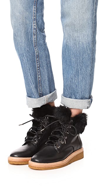 Botkier Winter Fur Hiker Boots
