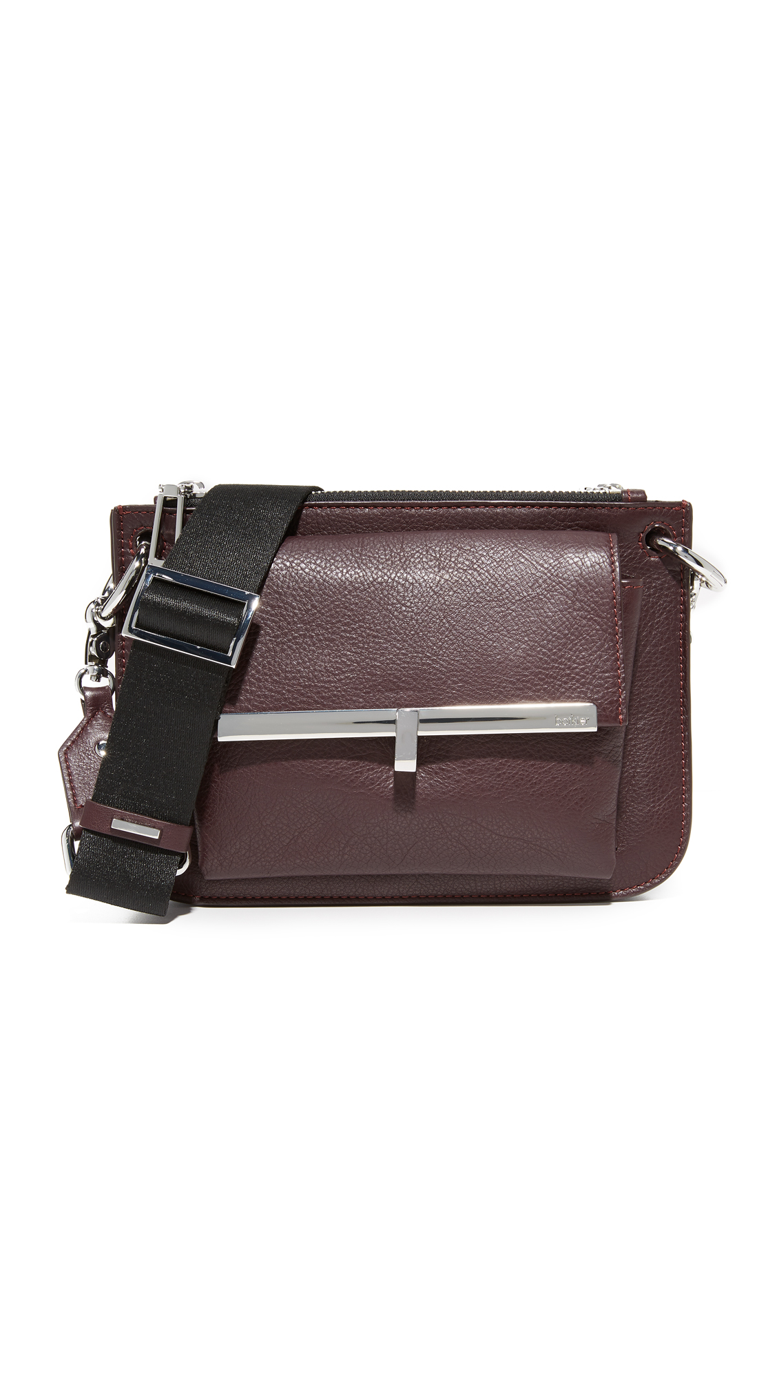 Botkier Bleeker Double Cross Body Bag - Wine