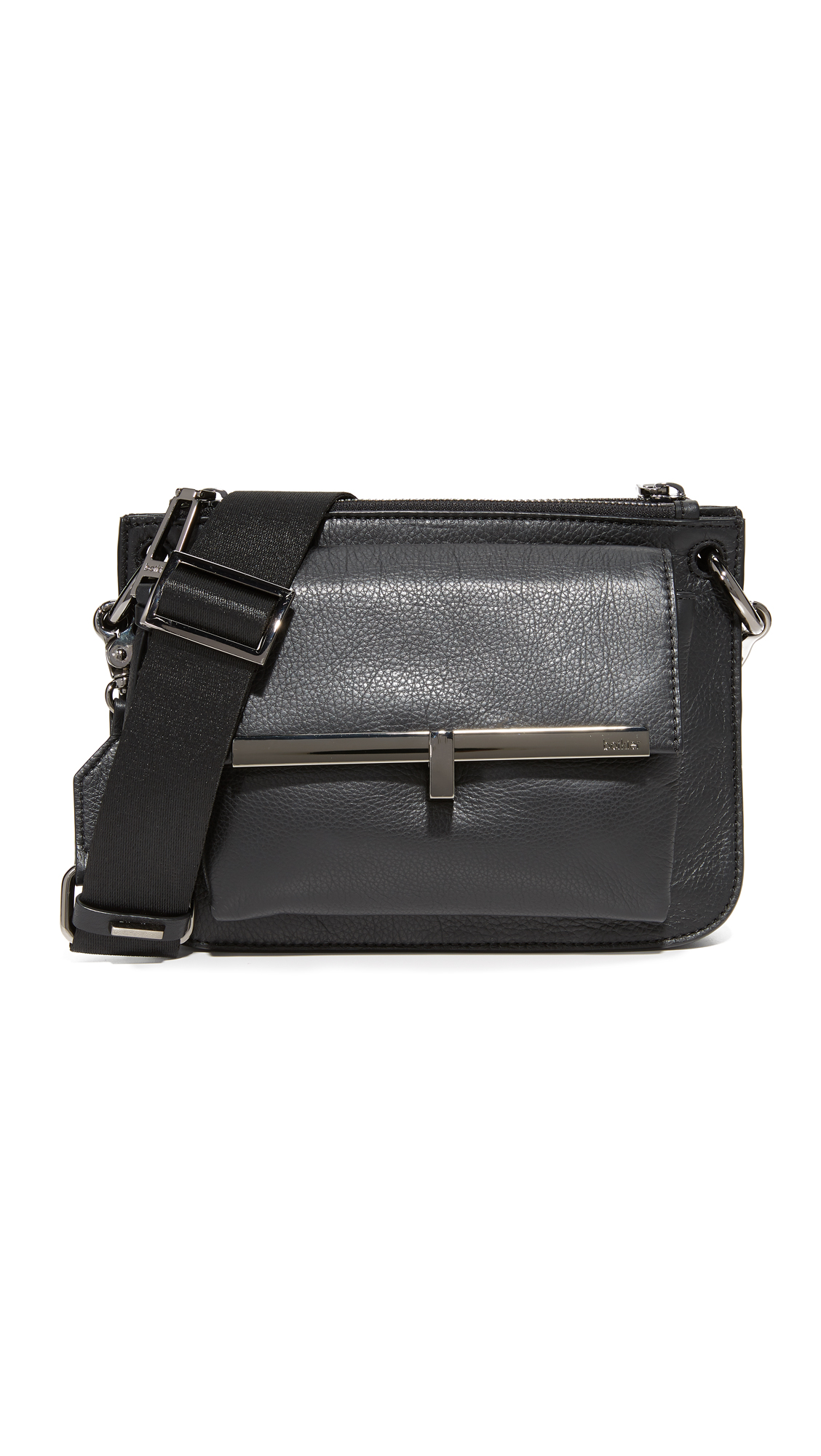 Botkier Bleeker Double Cross Body Bag - Black