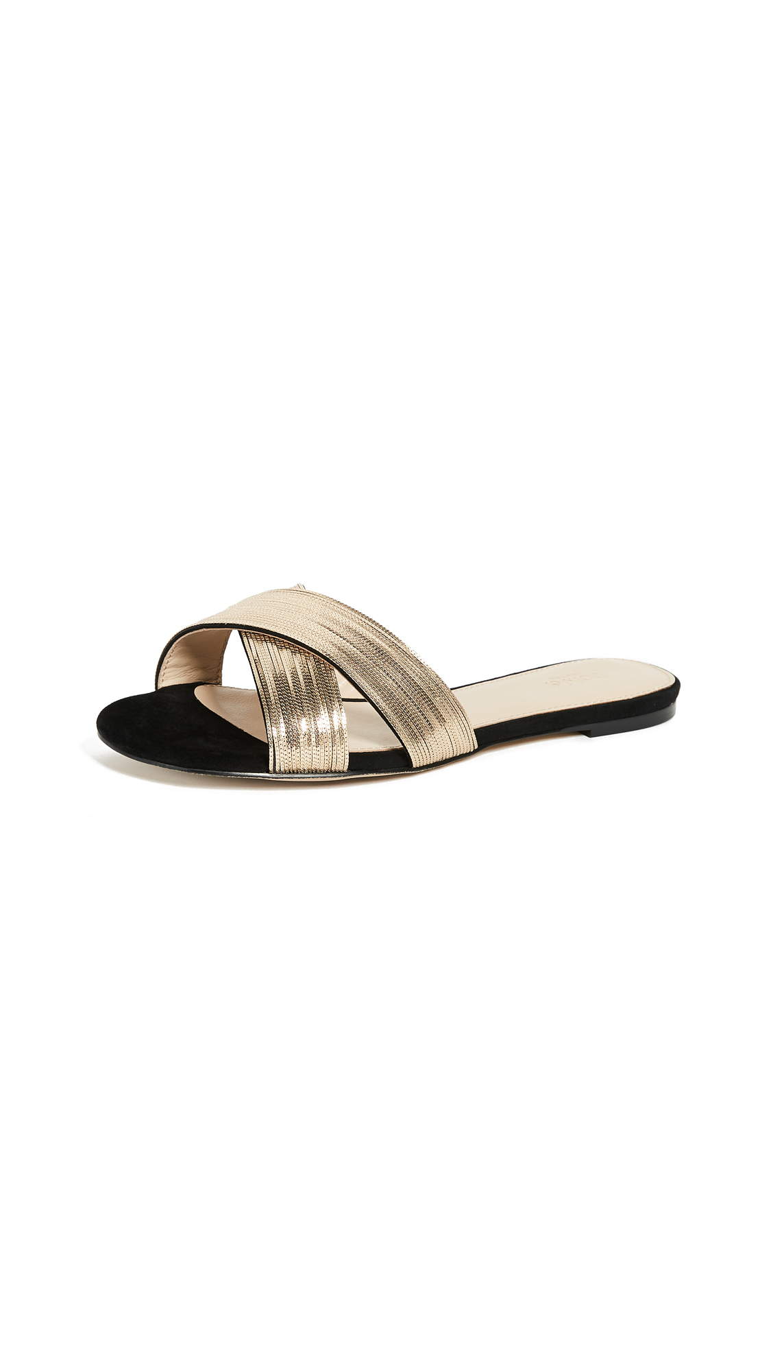 Botkier Millie Slides - Black Gold