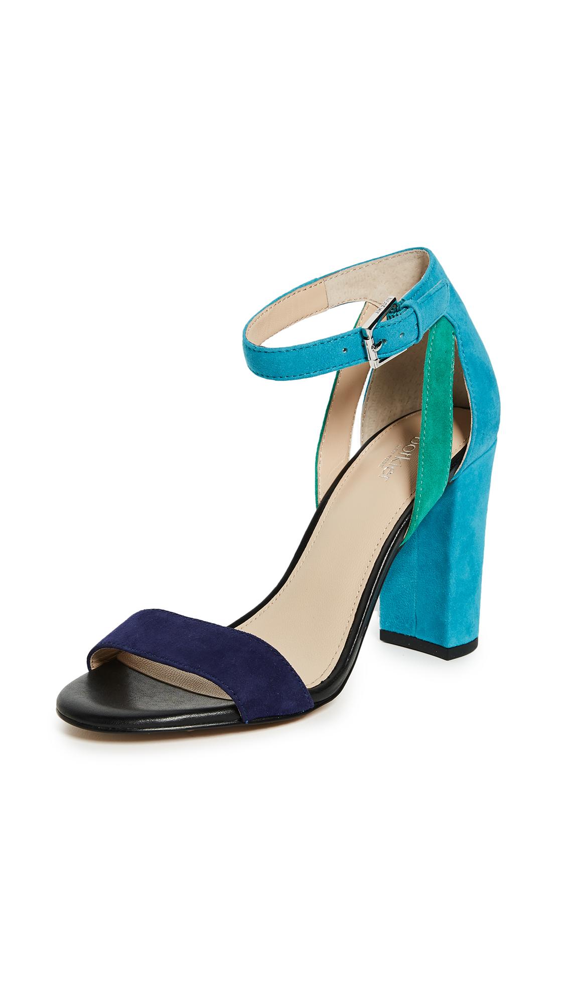 Botkier Gianna Colorblock Sandals - Ultramarine Combo