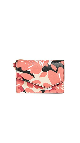 Botkier Cobble Hill Card Holder In Poppy/Floral