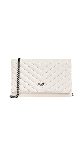 Botkier Soho Quilted Wallet on a Chain In Dove