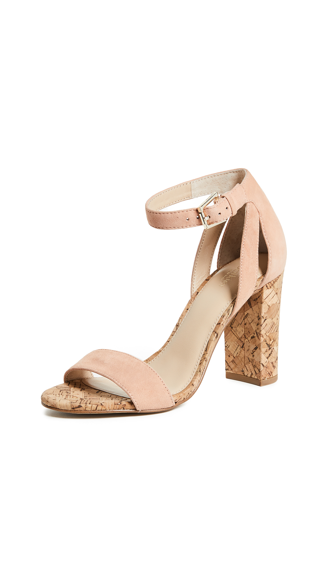 Botkier Gianna Block Heel Sandals - Soft Peach