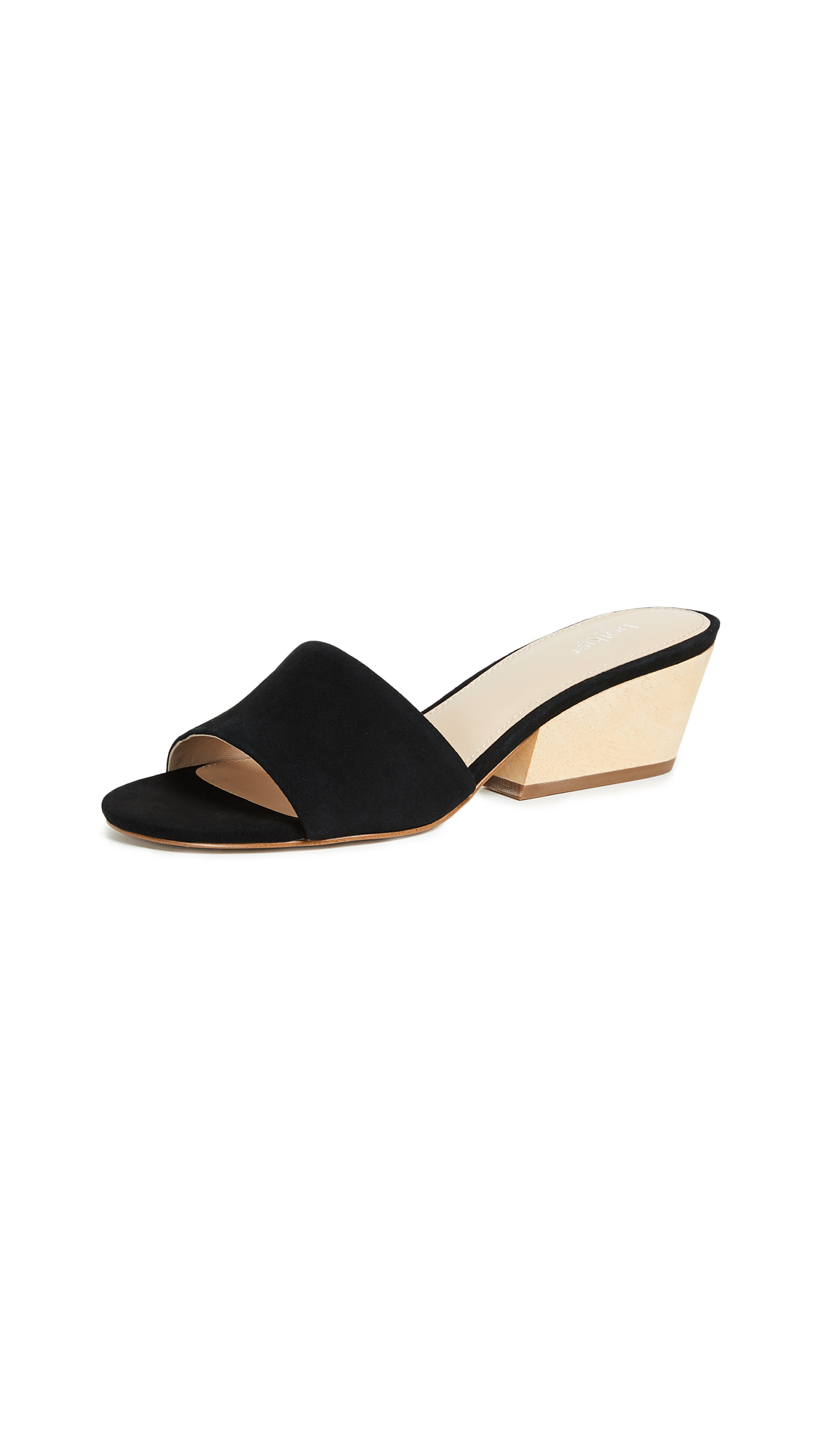 Botkier Carlie Block Heel Slides - Black