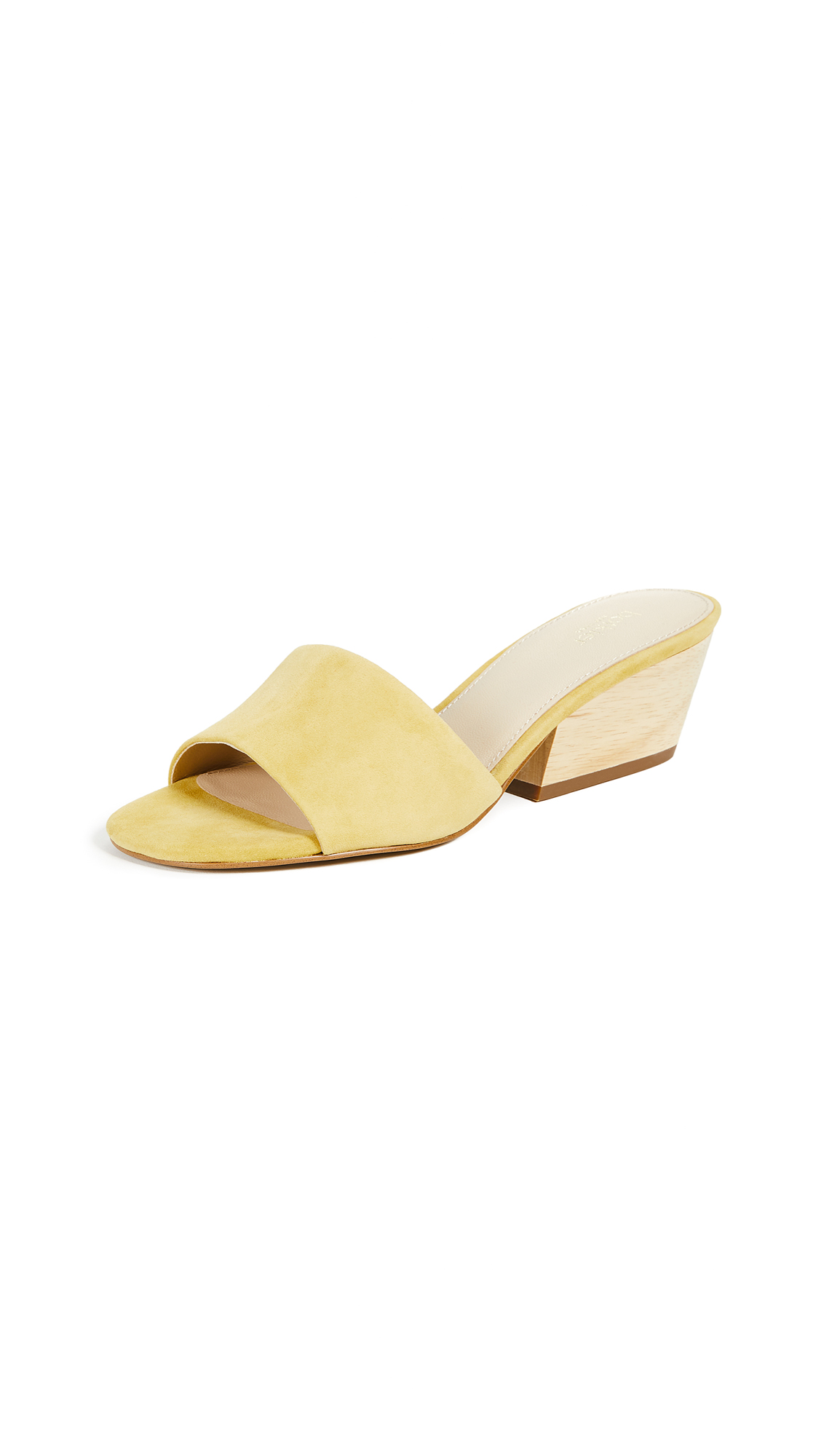 Botkier Carlie Block Heel Slides - Pineapple