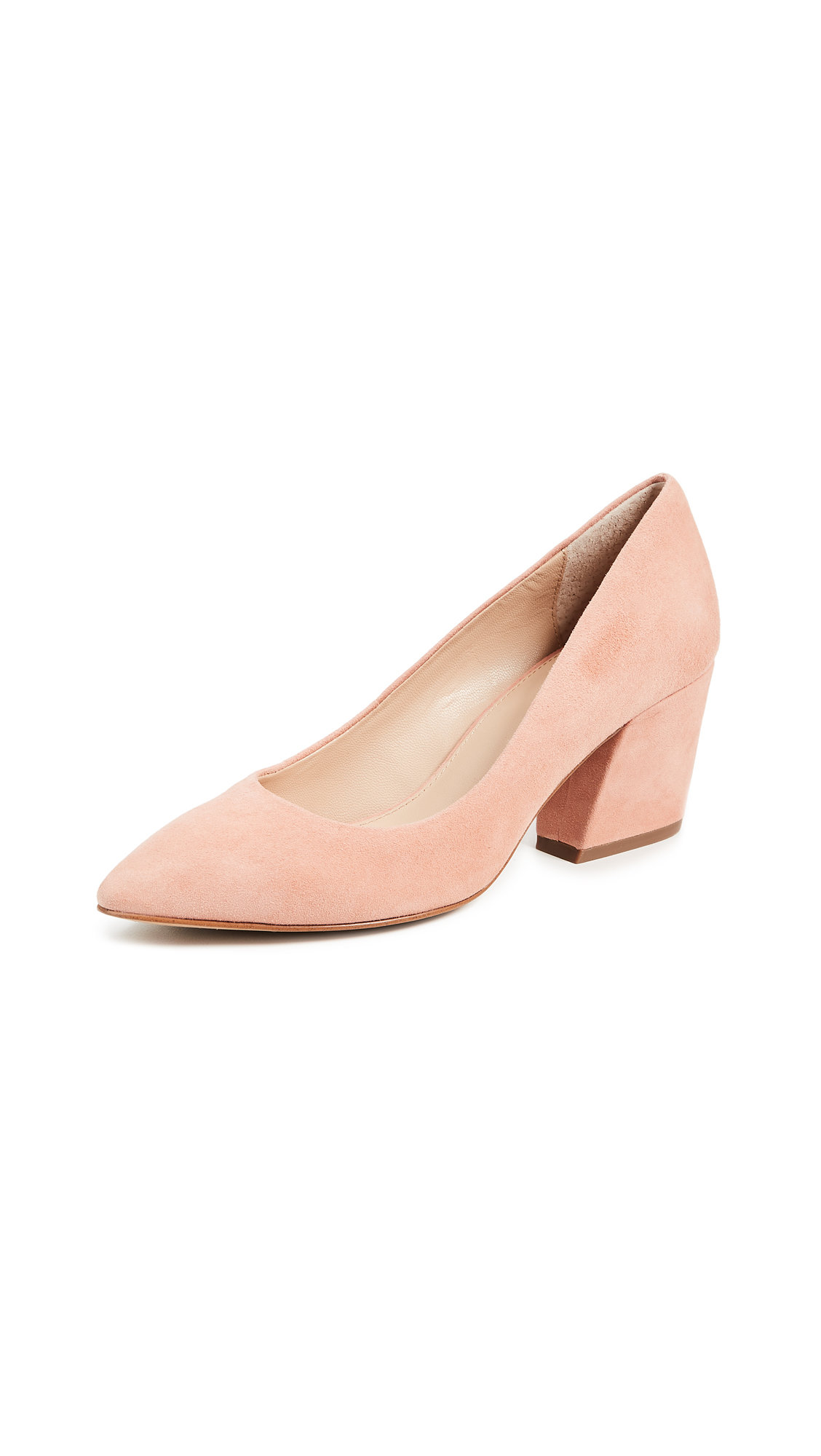 Botkier Stella Block Heel Pumps - Soft Peach
