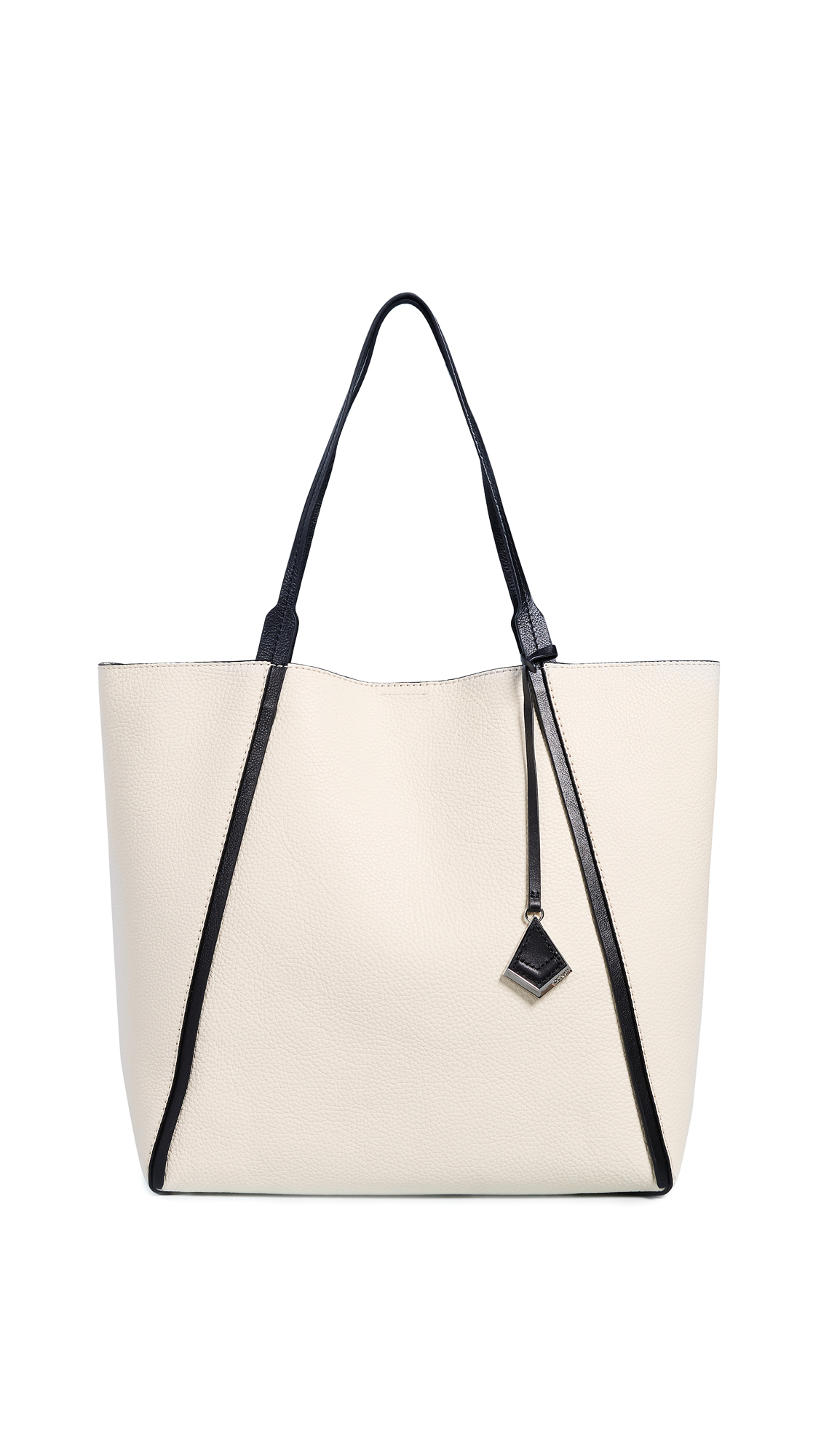 BOTKIER Trinity Calfskin Leather Tote - White in Cream