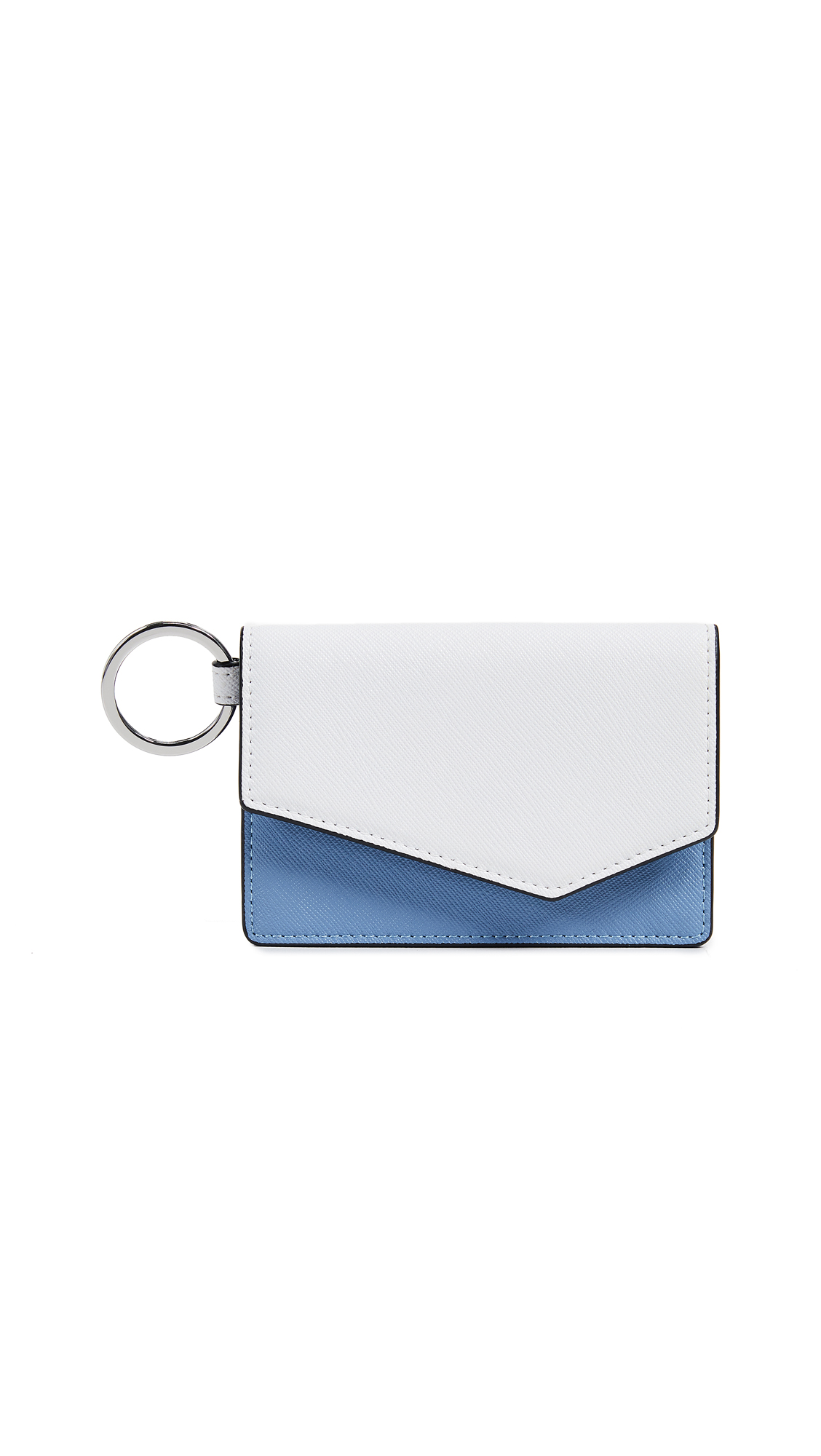 Cobble Hill Colorblock Clutch, Sky Colorblock