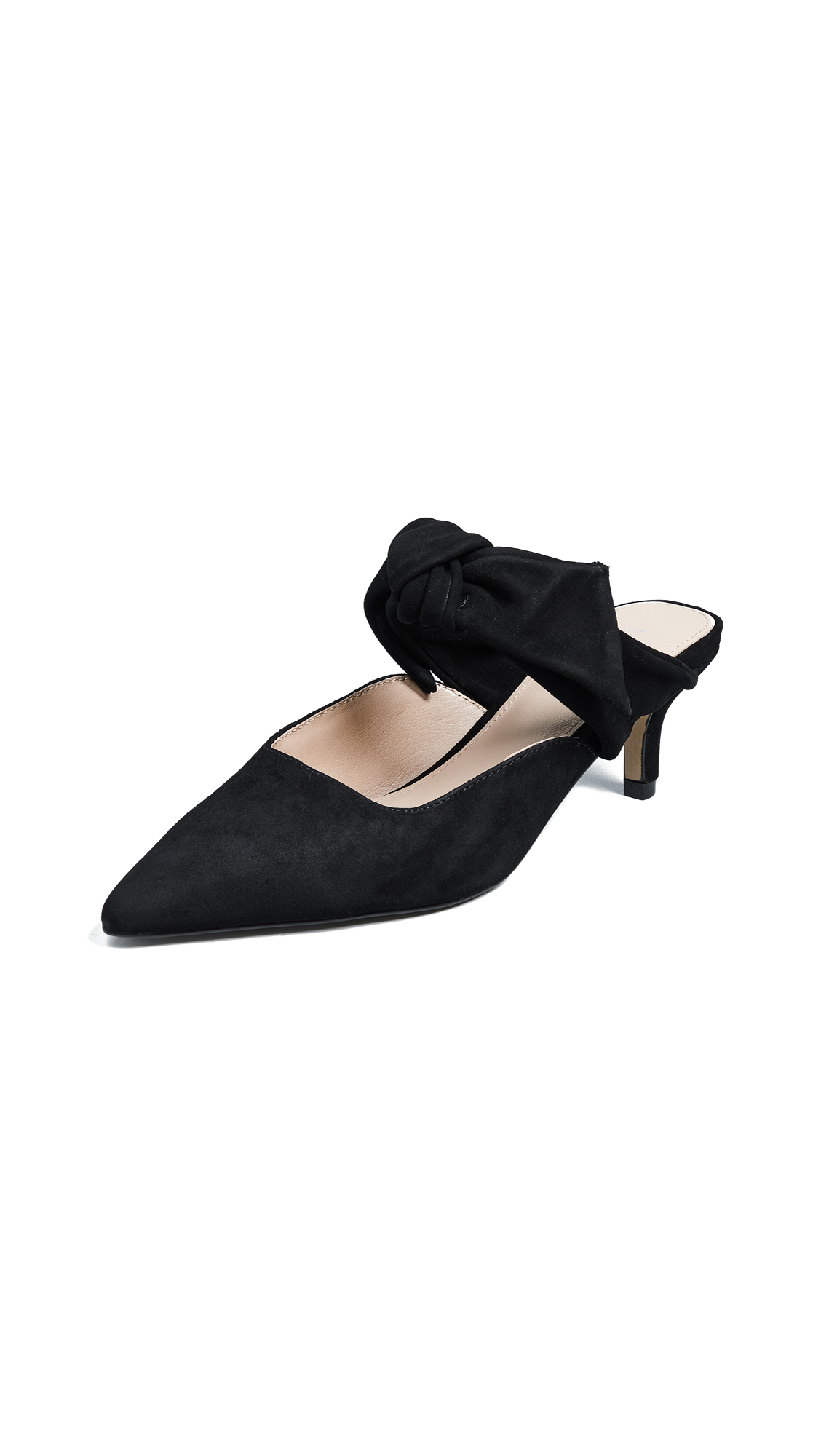 Botkier Pina Point Toe Mules - Black