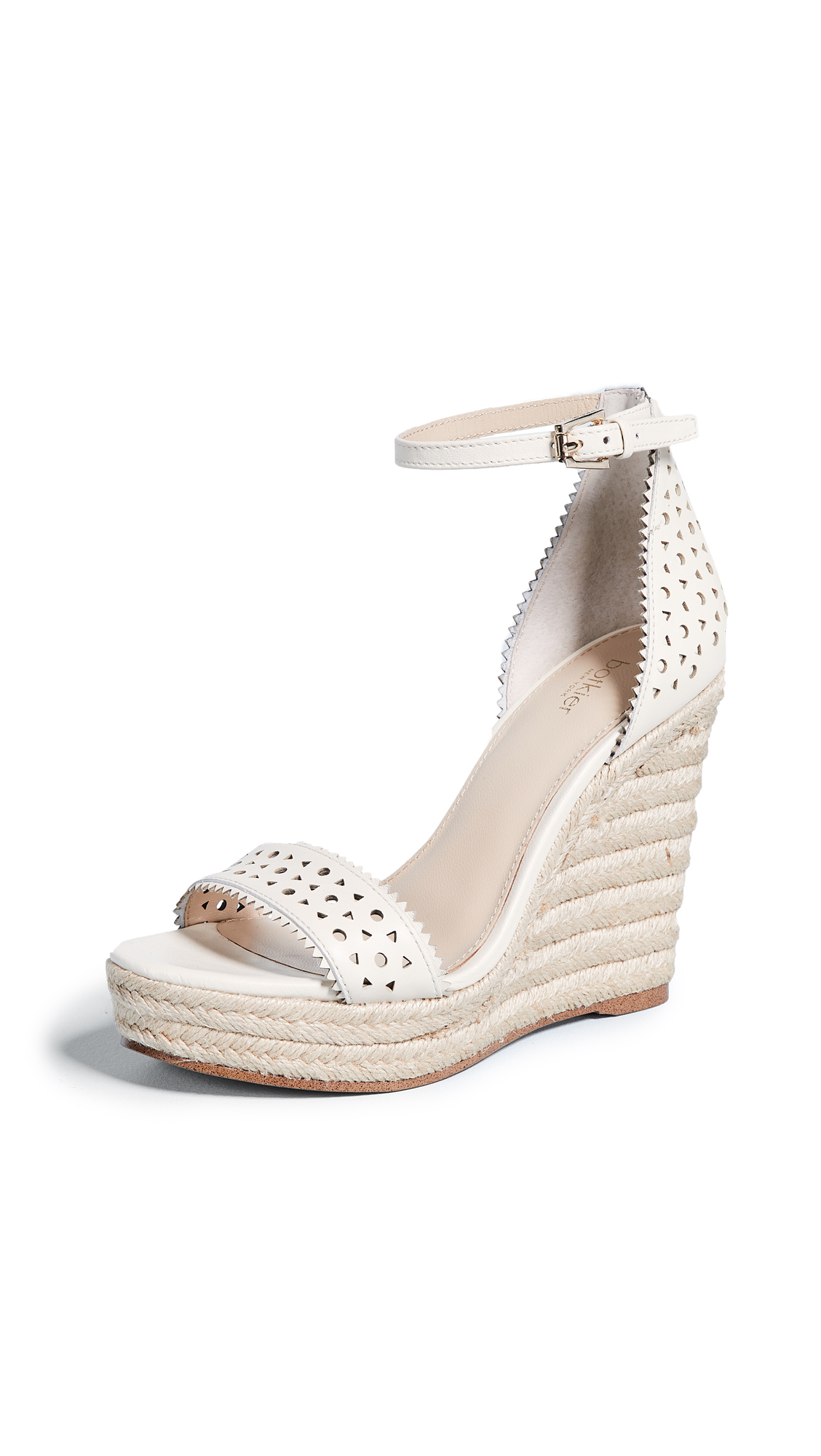 Botkier Jamie Espadrille Wedges In Cream