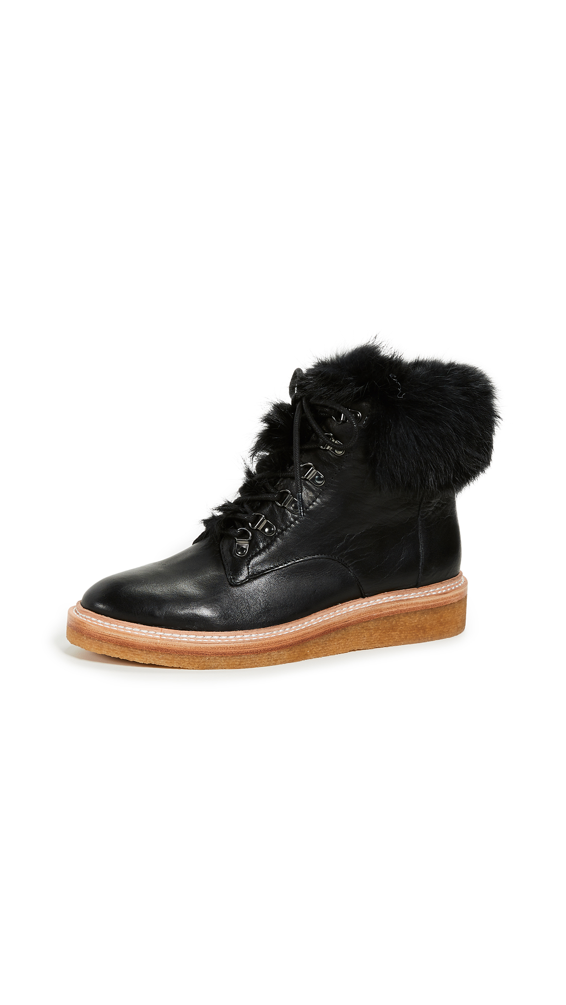 Botkier Winter Combat Boots - Black