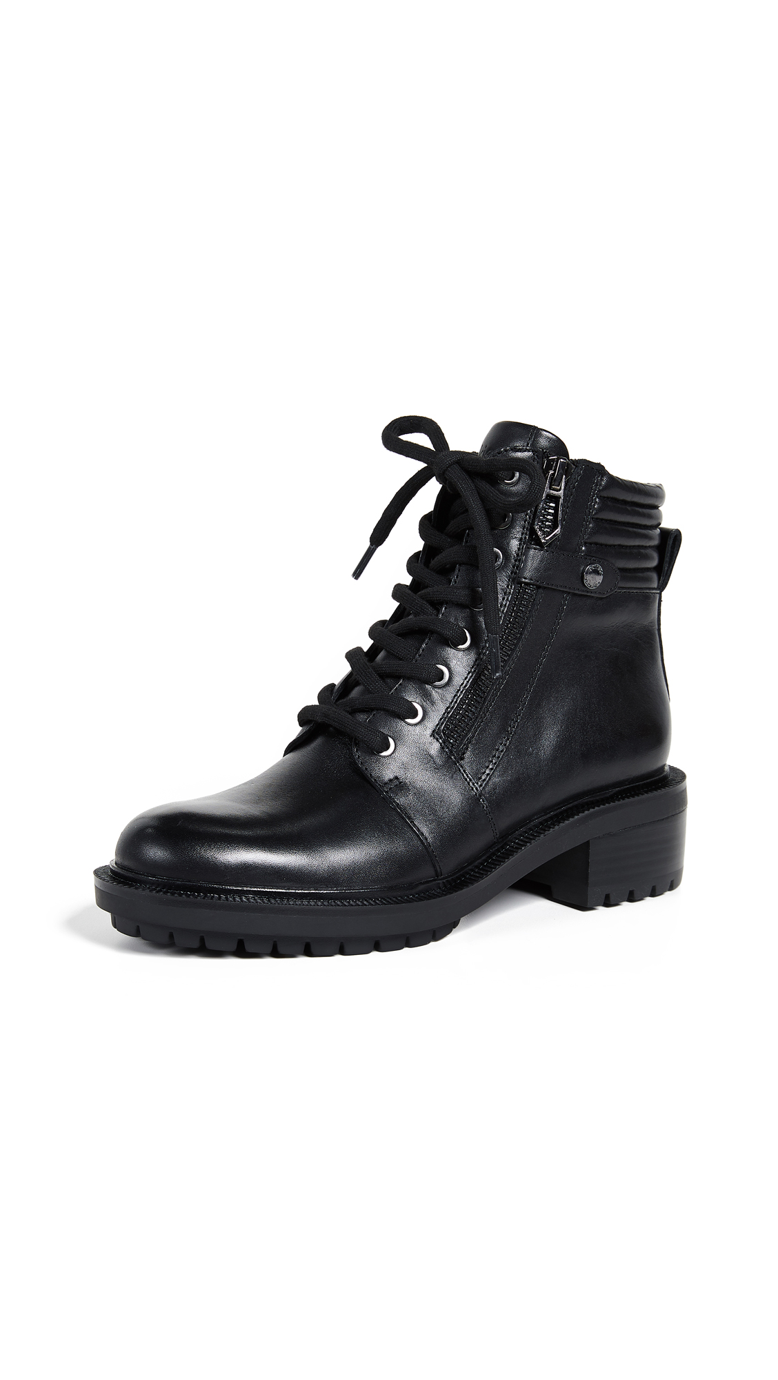 Botkier Moto Lace Up Boots - Black