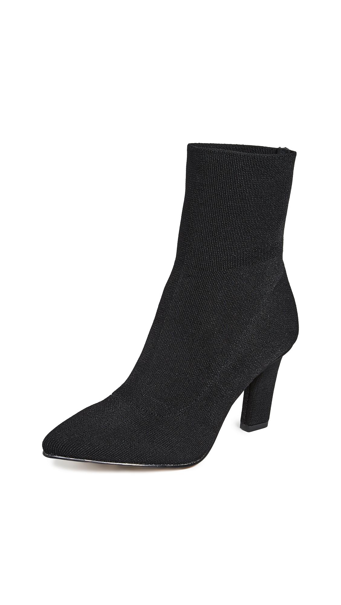 Women'S Nadia Knit High-Heel Booties in Black