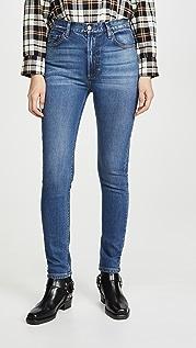 Boyish Эластичные джинсы-скинни Zachary Comfort с высокой посадкой
