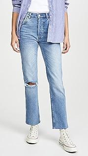Boyish Прямые эластичные джинсы с высокой посадкой Dempsey Comfort