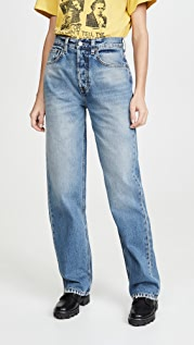 Boyish The Ziggy High Rise Rigid Relaxed Leg Jeans