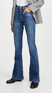 Boyish Эластичные расклешенные джинсы Kingsley Comfort с высокой посадкой
