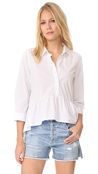 Birds of Paradis Peplum Shirt