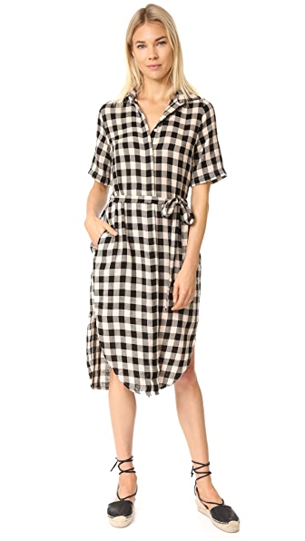 Birds of Paradis The Florence Short Sleeve Shirtdress