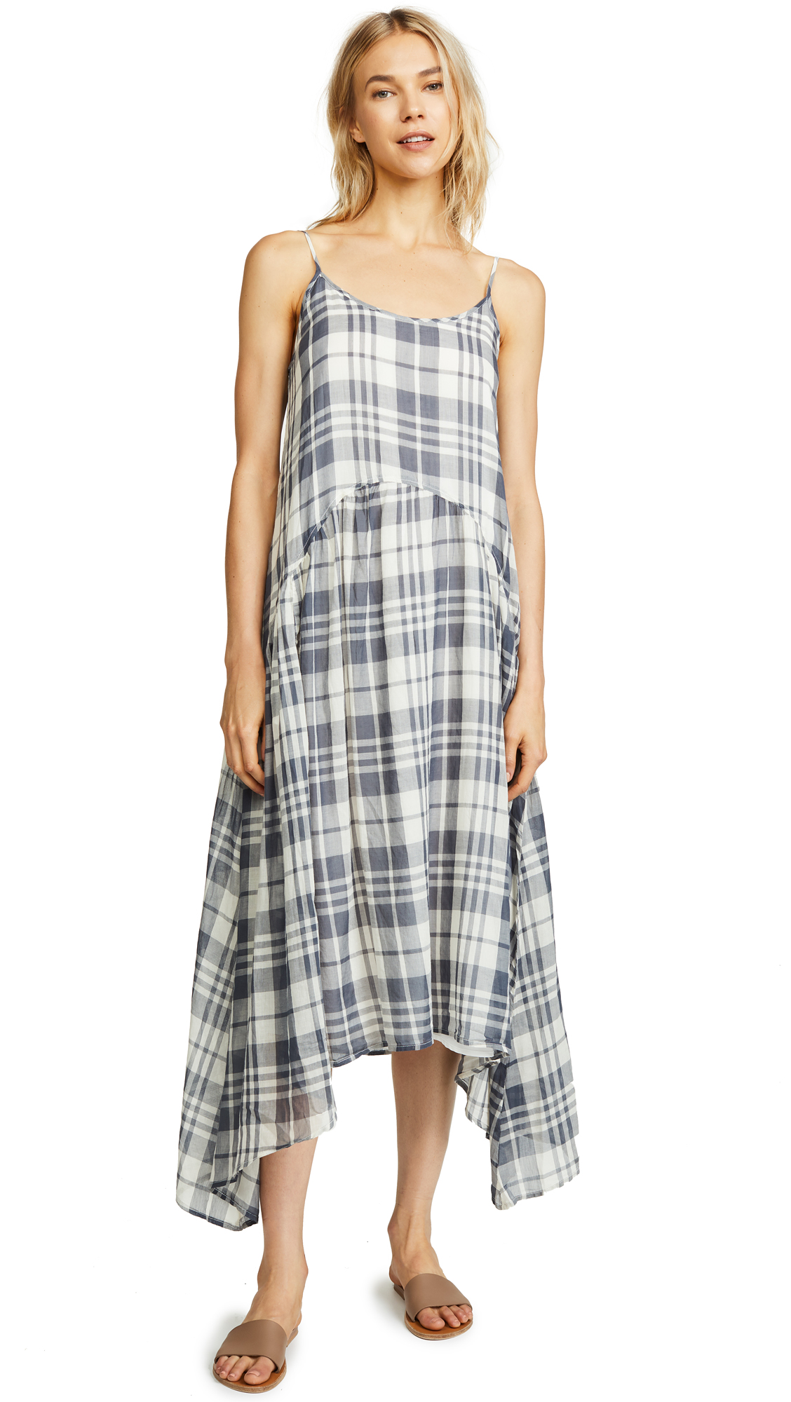Nightingale Dress in Slate Plaid