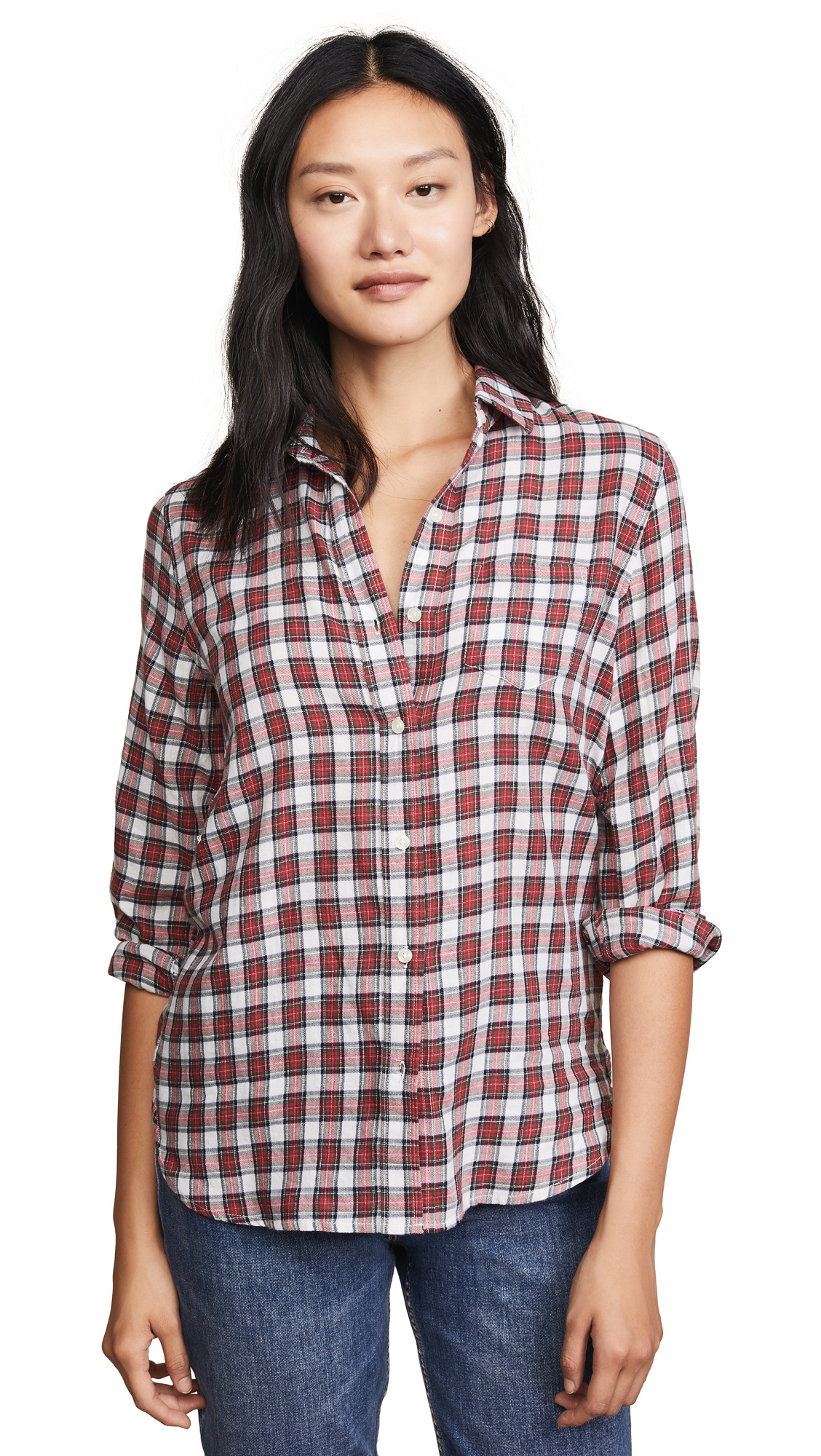 BIRDS OF PARADIS The Grace Classic Shirt in Red Plaid