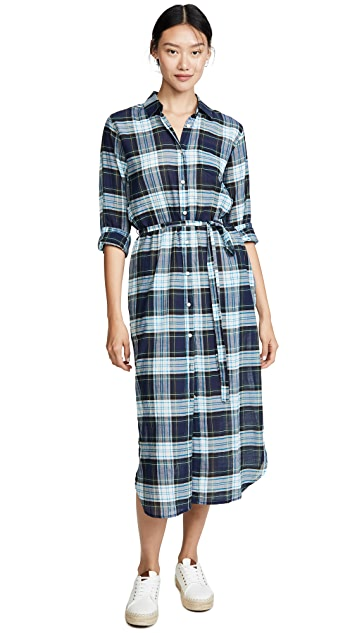Birds of Paradis Kelly Long Shirtdress