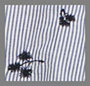 Navy Stripe Embrodiery
