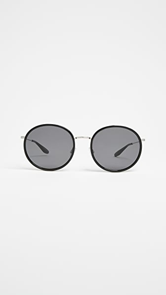 Barton Perreira Joplin Sunglasses In Black/Noir