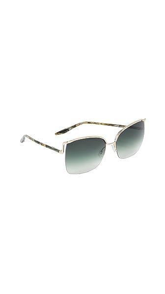 Barton Perreira Satdha Sunglasses In Gold Jamrock Tortoise/Julep