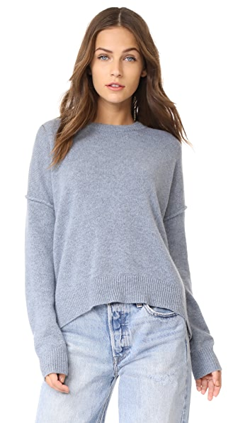 Brochu Walker Brighter Cashmere Sweater - Nordic Blue Melange