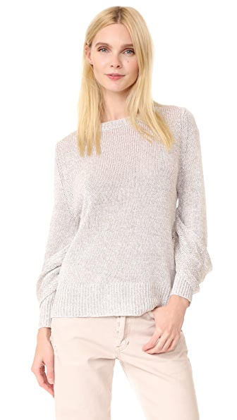 Brochu Walker Mead Draped Sleeve Pullover - Silver Grey Combo