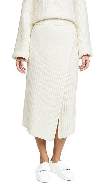 Brochu Walker Flavie Ribbed Knit Skirt In Moonstone