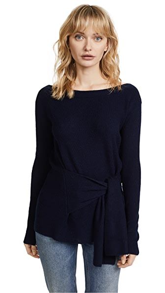 Brochu Walker Ayers Wrap Sweater In Regatta