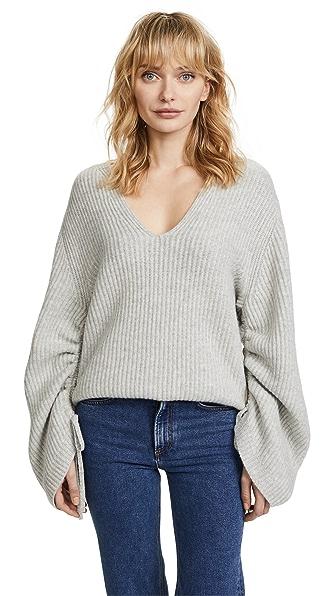 Brochu Walker Anneka Sweater In Gris Melange