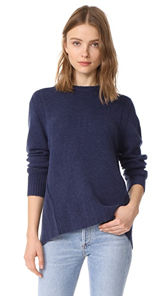 Brochu Walker Keller Layered Pullover - Indigo with White Underlay