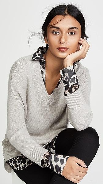Brochu Walker Sweaters V NECK LAYERED SWEATER