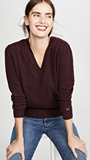 Brochu Walker Marcel Cashmere Vee Sweater