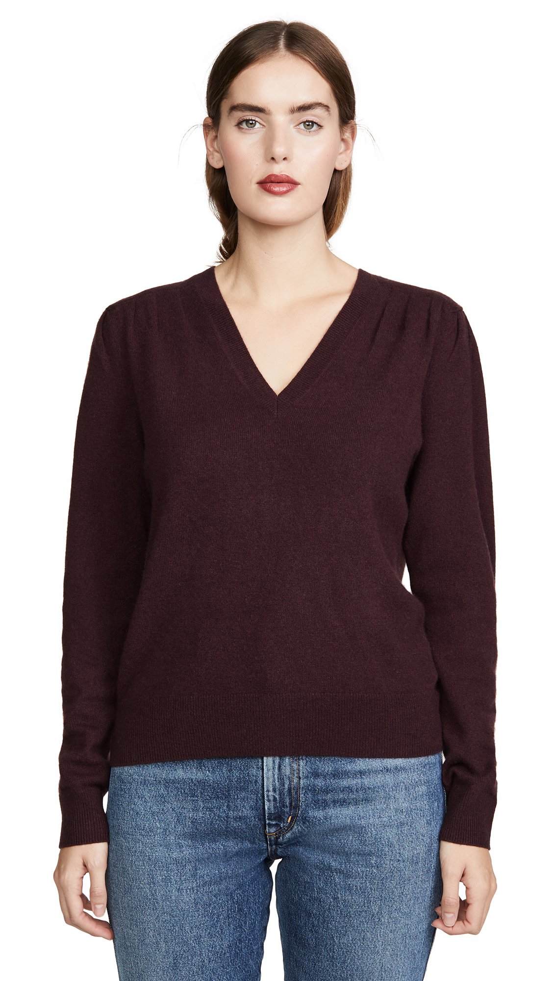 Buy Brochu Walker online - photo of Brochu Walker Marcel Cashmere Vee Sweater