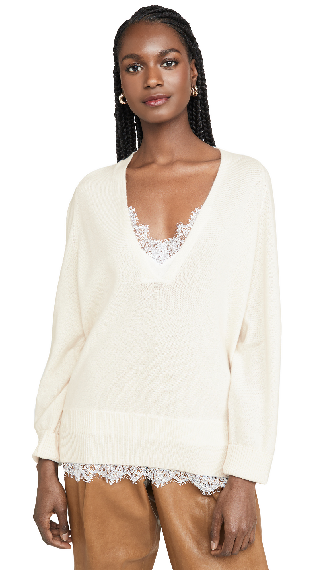 Buy Brochu Walker online - photo of Brochu Walker Lace V Looker Sweater