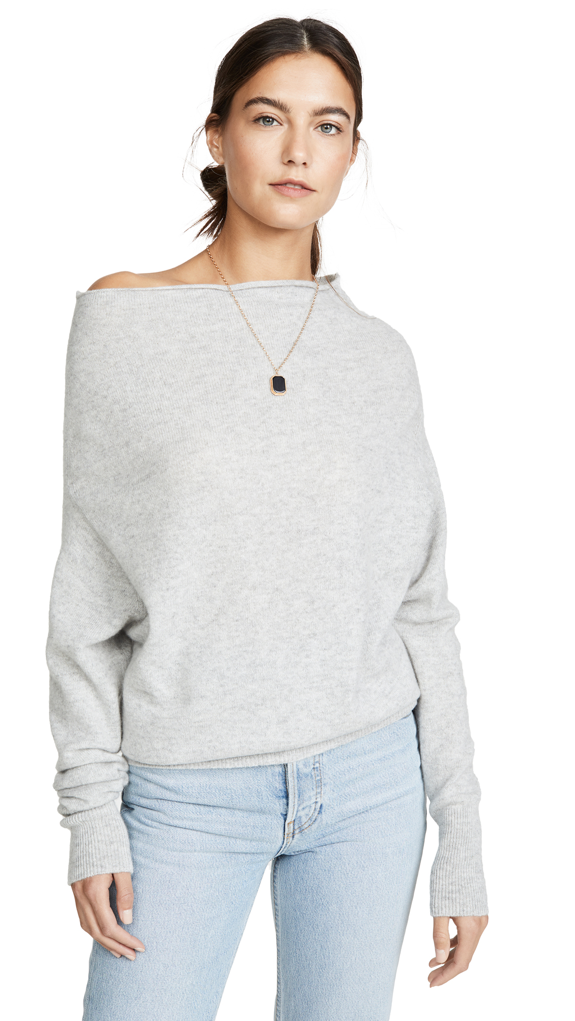 Buy Brochu Walker online - photo of Brochu Walker Lori Off Shoulder Cashmere Sweater