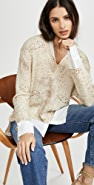 Brochu Walker Printed Layer V Neck Sweater