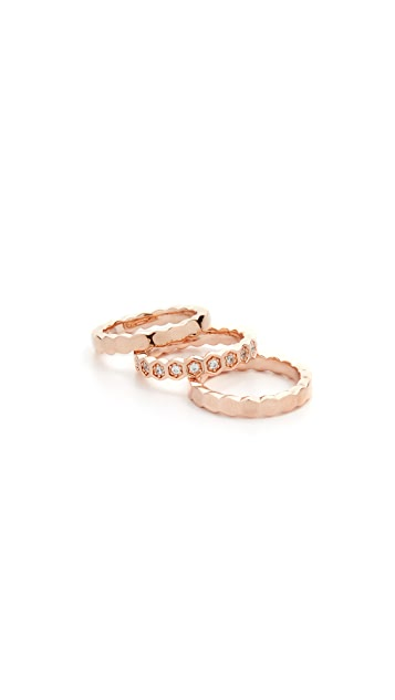 Bronzallure Set of 3 Fancy Rings