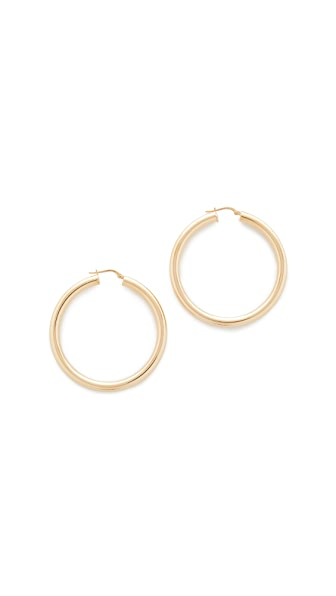 Bronzallure Purezza Medium Hoop Earrings