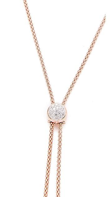 Bronzallure Purezza Shiny Coreana Slide Bead Necklace