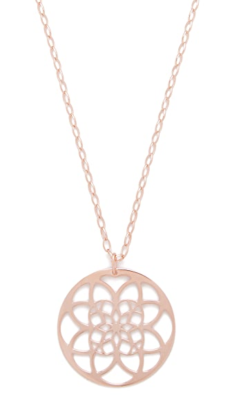Bronzallure Rokoko Glamorous Pendant Necklace - Rose Gold