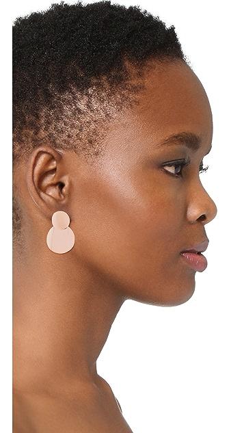 Bronzallure Purezza Double Disc Dangle Earrings