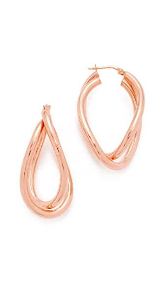 Bronzallure Purezza Hoop Earrings - Rose Gold