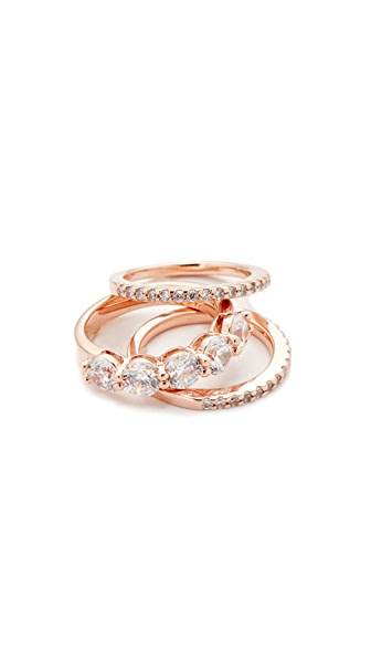 Bronzallure Thin Altissima Ring Set