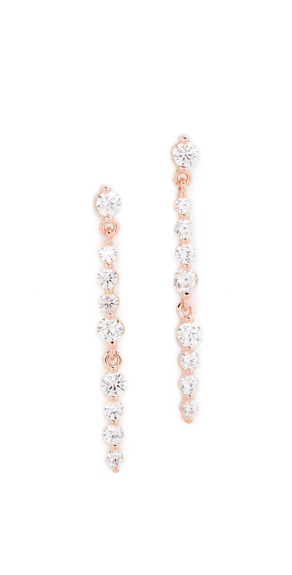 Altissima Linear Drop Earrings Bronzallure